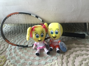 Ace and Vollie play some tennis